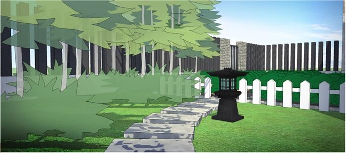新中式庭院(7)