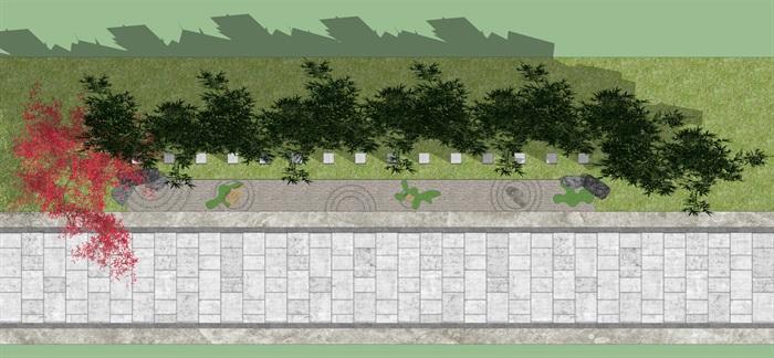 枯山水景墙(3)