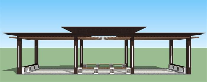 新中式廊架(1)