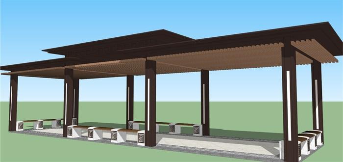新中式廊架(2)