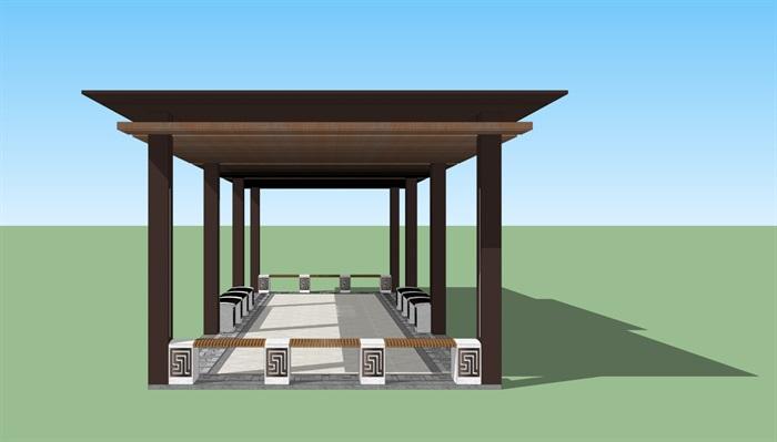 新中式廊架(3)