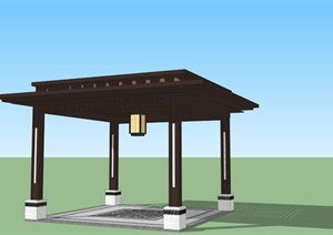 新中式亭子(新中式铺装、新中式基座)