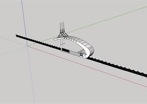 园林景观节点大门素材SU(草图大师)模型
