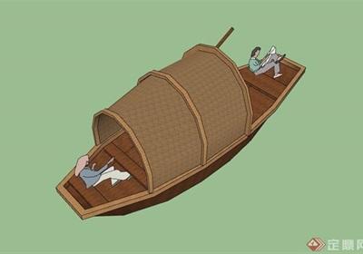 详细的船只素材设计su模型