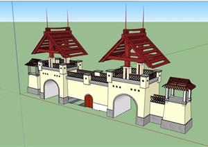 园林景观沉迷建筑SU(草图大师)模型