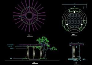 圆形花架亭设计图纸