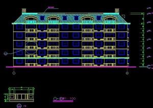 现代五层住宅公寓建筑设计施工图纸