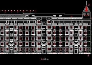 英式风格六层住宅楼建筑设计施工图