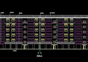现代6层公寓住宅楼建筑设计图纸