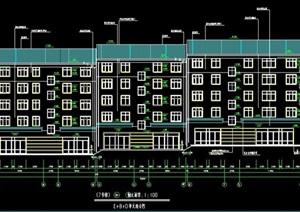 某小区五层联排住宅楼建筑设计图