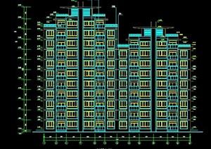 某市花园式高层住宅楼建筑设计图