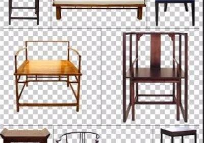8款古典中式太师椅家具素材psd格式
