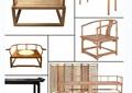 8款古典中式座椅、屏风家具PSD素材