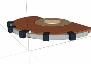 某详细的树池设计SU(草图大师)模型
