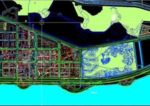 现代大型城市中心总部城式规划设计方案cad SU(草图大师)模型 文本
