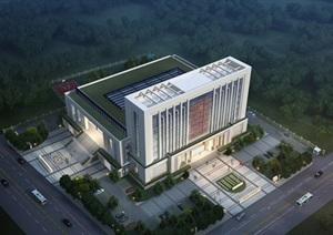 现代大型政府办公中心人民法院