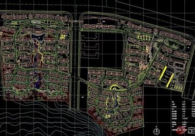 某住宅区域规划设计cad图