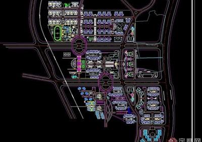 某区修建性详细小区建筑规划总平面图