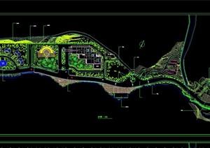 某旅游景区规划图和景点cad详图