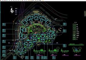 园林景观详细的完整大门设计cad施工图