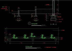 园林景观详细的双层花池设计cad施工图