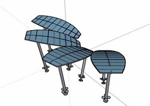 廊架独特素材设计SU(草图大师)模型