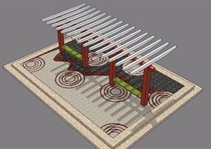 园林景观廊架节点素材SU(草图大师)模型