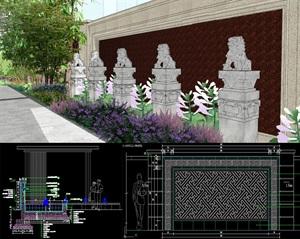 北京某别墅项目样板院景观施工图