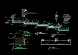 台阶踏步水池设计cad施工图