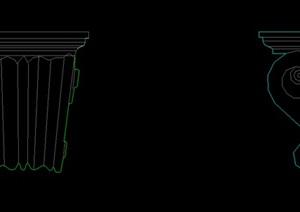 欧式柱头 手描二维图形