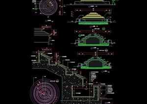 叠水盘水景设计cad施工图