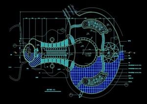 叠泉水景详细设计cad施工图
