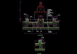 欧式水钵水景设计cad剖面图