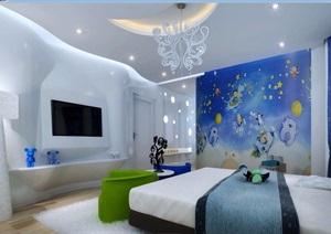 儿童房详细装饰设计3d模?#22270;?#25928;果图