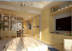 住宅整体详细卧室装饰3d模型