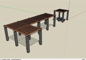 园林景观休闲景观廊架素材SU(草图大师)模型