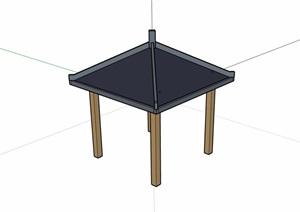某详细整体的凉亭素材SU(草图大师)模型