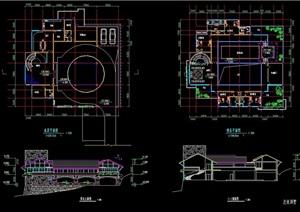 总统别墅两层建筑cad方案图