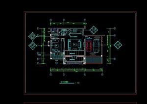 某详细的别墅样板间室内cad竣工图