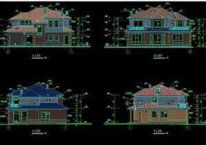 某郊区别墅建筑设计cad施工图