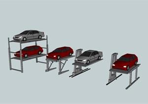 简易车库、平面移动、巷道堆垛机械智慧车库模型