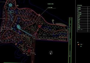 某花园住宅小区规划cad总平面