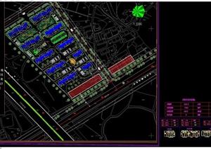 现代详细居住区规划cad方案