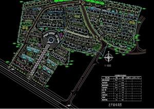 某住宅详细花园小区规划cad总平面图