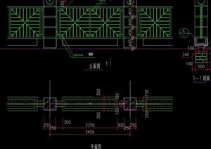 钢管围墙设计cad施工图