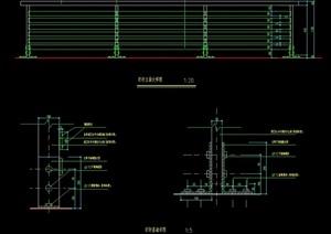 某详细的园林景观栏杆素材设计cad施工图