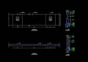围墙设计cad平立剖面图