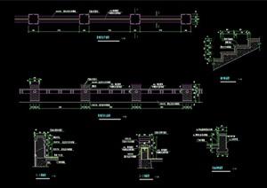 景观栏杆素材设计cad施工图