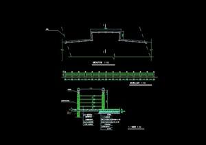 园林景观节点栏杆设计cad施工图