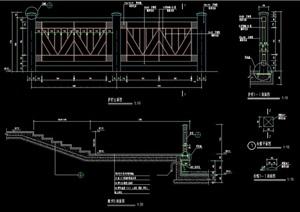 护栏杆素材设计cad施工图